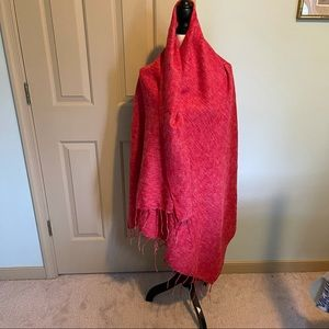 Stunning red shawl/scarf